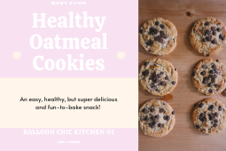 Balloon Chic Kitchen 01: Best Ever Healthy Oatmeal Cookies